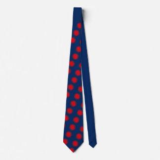 Red Swirling Polka Dots Tie