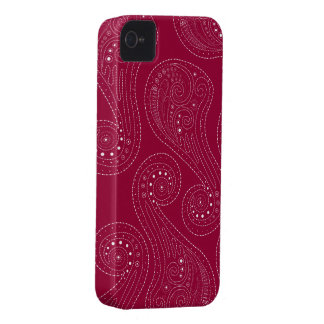 Red Swirls iPhone 4 Case-Mate Cases