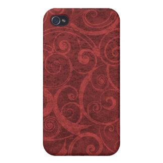 Red Swirls Texture iPhone 4/4S Case