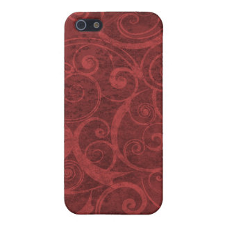 Red Swirls Texture Case For iPhone 5
