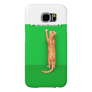 Red tabby cat rips paper samsung galaxy s6 cases
