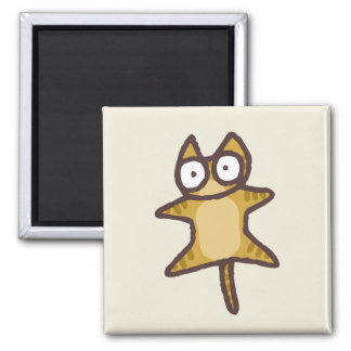 Red Tabby Cat Square Magnet
