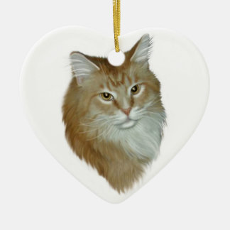 Red Tabby Maine Coon Ceramic Ornament