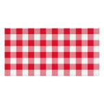 red table cloth picture card