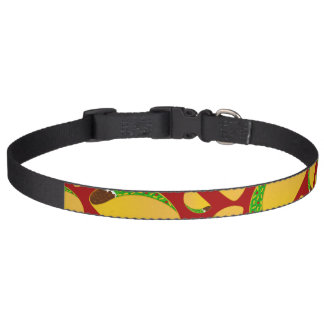 Red taco pattern dog collars