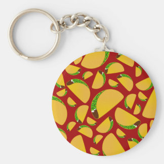 Red taco pattern keychain