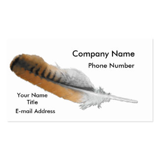 Red-tail Hawk feather Business Card Templates