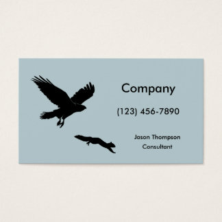 Red tail on squirrel silouette business card