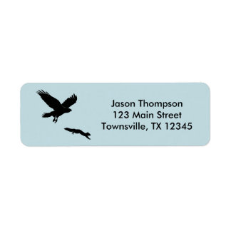Red tail on squirrel silouette return address label