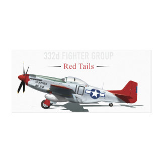 Red Tail P-51 Mustang of the Tuskegee Airmen Canvas Print