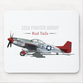 Red Tail P-51 Mustang of the Tuskegee Airmen Mouse Pad
