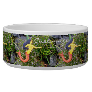 red-tail sirena mermaids dog water bowls
