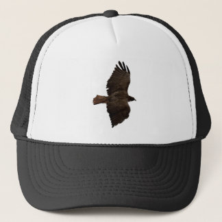 Red-tail sketch trucker hat
