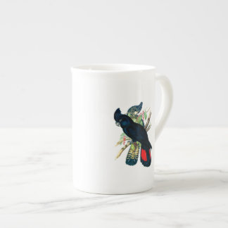 Red tailed, Black (Banksian) Cockatoos. Tea Cup