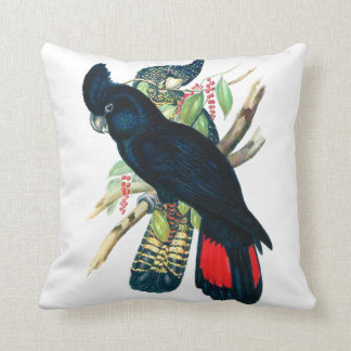 Red tailed, Black (Banksian) Cockatoos. Throw Pillow