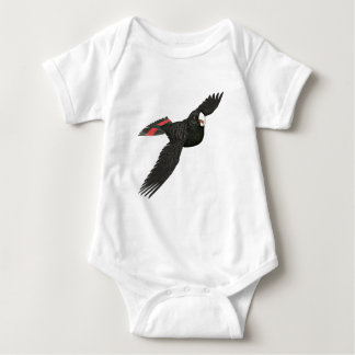 Red Tailed Black Cockatoo Baby Bodysuit