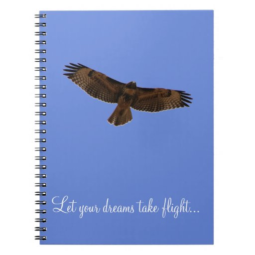 Red Tailed Hawk Dream Journal Blue Background Notebooks