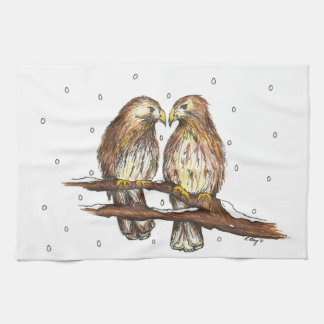 Red-Tailed Hawk Hawks Bird Holiday Christmas Towel