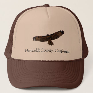 Red-tailed Hawk in flight, Humboldt County, CA Trucker Hat