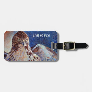 Red Tailed Hawk Luggage Tag