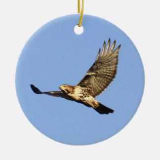 Red-tailed Hawk Round Ceramic Decoration
