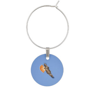 Red-tailed Hawk Wine Glass Charms