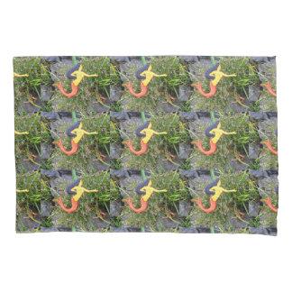 red-tailed sirenas mermaid pattern pillowcase