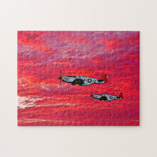 """Red Tails in the Sunset"" Puzzle"