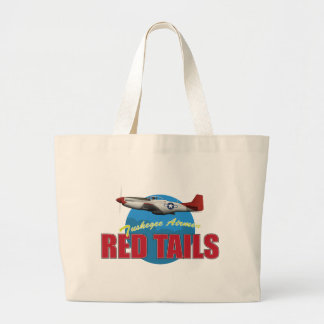 Red Tails Tuskegee Airmen with P-51 Canvas Bag