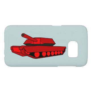 Red tank design phone case cover samsung s7