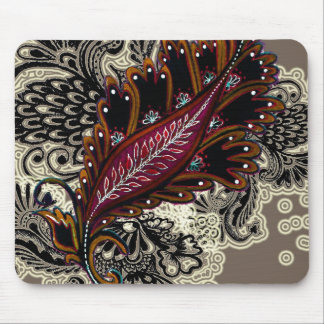 Red Tapestry Mouse Pad