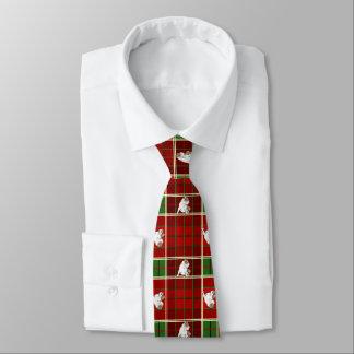 Red Tartan Bulldog Tie
