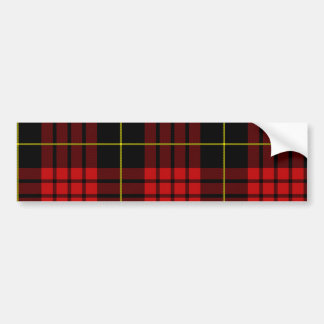 Red Tartan Bumper Sticker