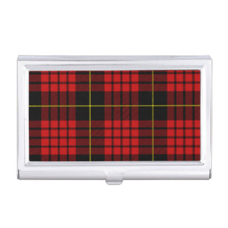 Red Tartan Business Card Holder