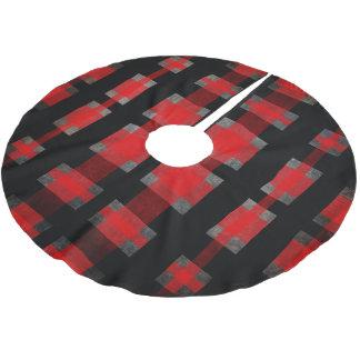 Red Tartan Modern Buffalo Plaid Holiday Decorating Brushed Polyester Tree Skirt