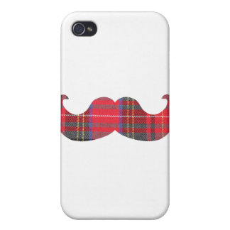 Red Tartan Mustache iPhone 4 Cover