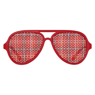 Red Tartan Party Sunglasses