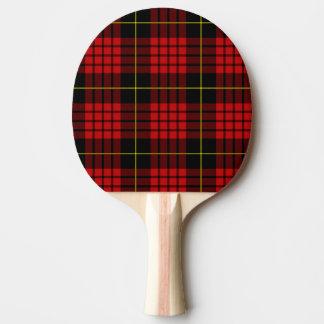 Red Tartan Ping Pong Paddle
