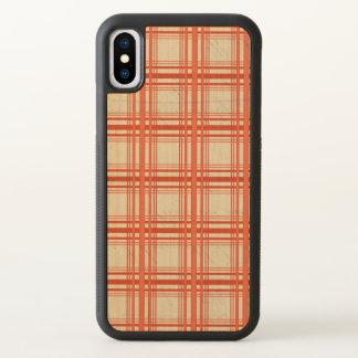 Red Tartan Plaid Checker iPhone X Case