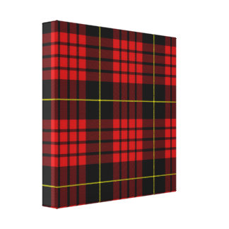 Red Tartan Wrapped Canvas
