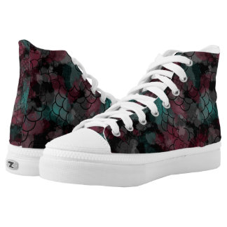 Red Teal Printed Shoes