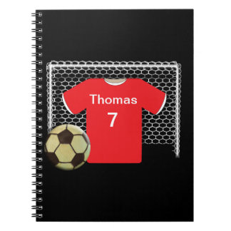 Red Team Personalized Soccer Shirt Notebooks