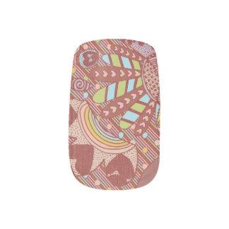 Red Teaparty Minx Nail Art