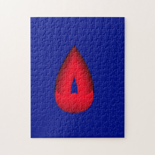 Red Tear Drop Jigsaw Puzzle
