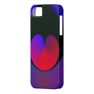 RED TEARDROP HEART BARELY THERE iPhone 5 CASE