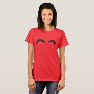 Red tee-shirt/Black Eyebrows T-Shirt