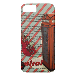 Red Telephone Band Rock n Roll Electric Guitar iPhone 7 Case