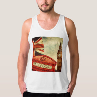 Red telephone booth and Big Ben in London, England Singlet