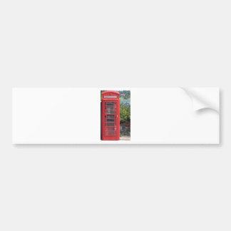 Red Telephone box Car Bumper Sticker