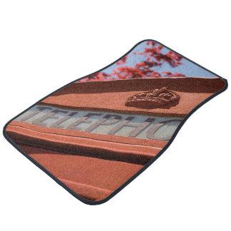Red telephone box floor mat